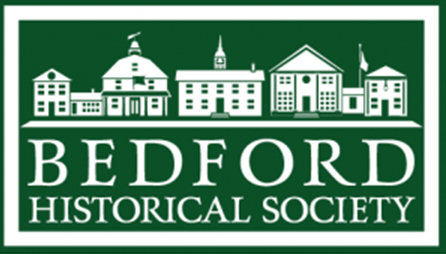 bedford historical society in white over green background | Doctor Wolnik